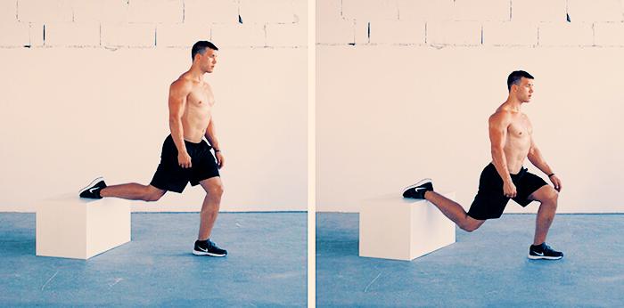 split squat for strong hamstrings
