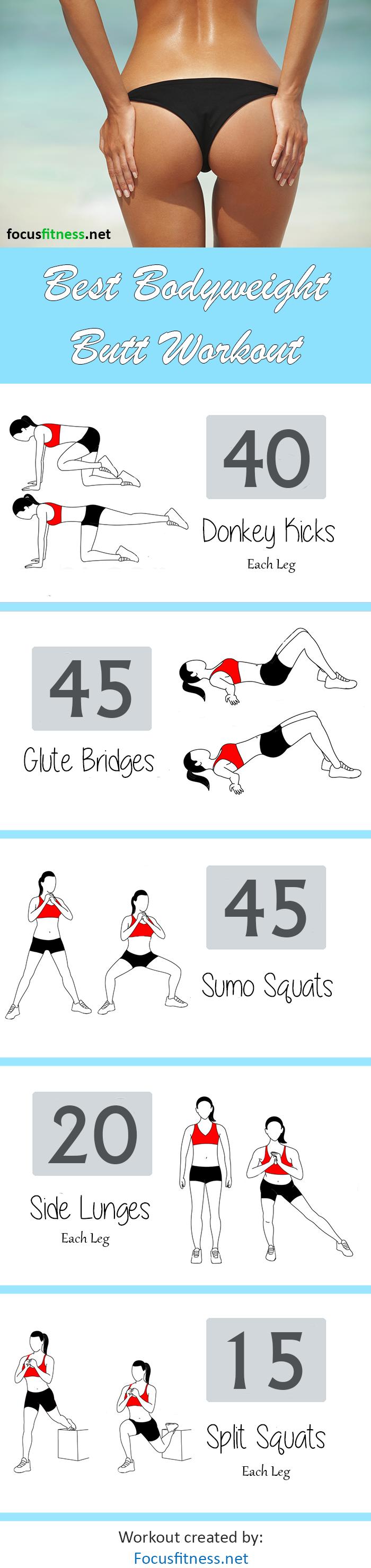 best bodyweight butt workout